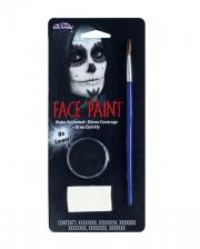Aqua Color Make Up Schwarz mit Pinsel und Schwamm