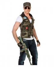 Army Kostüm-Weste mit Kappe