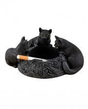Ashtray With 3 Black Cats