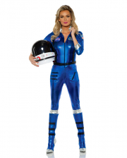 Astronauten Damenkostüm blau