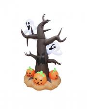 Kleiner Geisterbaum Halloween Aufblasfigur 240cm