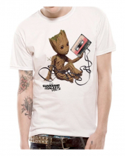 Groot With Cassette T-shirt Guardians Of The Galaxy 2