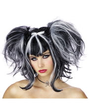 Gothic Fairy Wig Black / White
