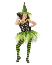 Ballerina Hexe Kinderkostüm schwarz-grün