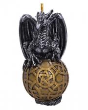 Drache mit Tribals & Pentagramm Weihnachtskugel 10cm