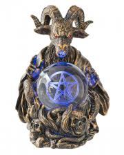 Baphomet With Pentagram LED Ball 16cm