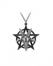 Baphomet Pentagramm Anhänger mit Kette
