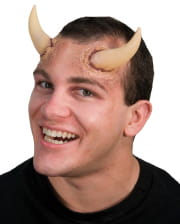 Beige Demon Horns Made Of Latex 10 Cm