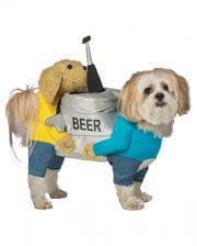 Bierfass Hundekostüm