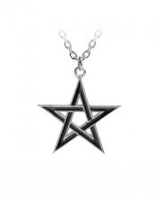 Black Star Pentagramm Anhänger mit Kette
