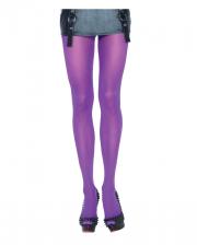 Opaque Nylon Pantyhose Purple