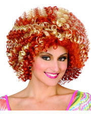 Disco Afro Perücke blond/rot