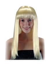 Langhaarperücke mit Pony Blond
