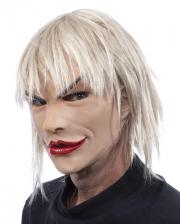 Blonde bimbo woman mask