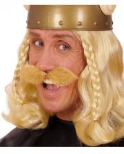 Blonder mustache