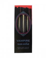 Blutende Schwarze Vampir Spitzkerzen 4 St.