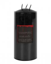 Blutende Schwarze Vampir Stumpenkerze 15cm