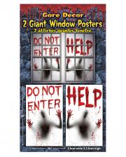 Blutige Fenster Poster 2 St.
