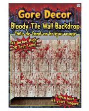 Bloody Tiles Wall Foil