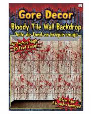 Blutige Fliesen Wandfolie