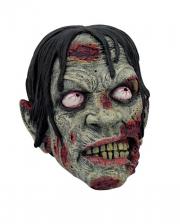 Blutiger Zombie Schädel 17cm
