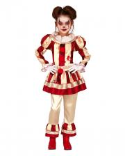 Bloody Clown Girl Children Costume