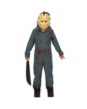 Blutiges Killer Psycho Kinderkostüm mit Maske
