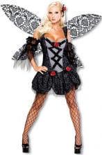 Böse Fee Kostüm mit Flügel