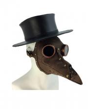 Brown Steampunk Plague Doctor Mask