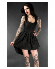 Brocade Mini Dress Onyx Black