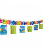 Hawaiian garland with paper lanterns