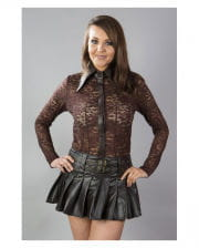 Burleska artificial leather miniskirt brown
