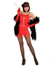 Charleston Kleid rot S