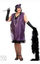 Charleston Kleid schwarz violett XL