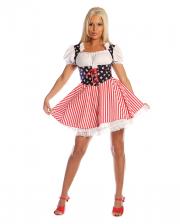 Cheerleader Stars and Stripes Kostüm Gr. L