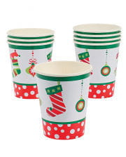 Christmas motif paper cups