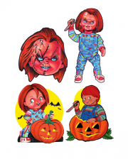 Chucky Childs Play Wanddeko 4-tlg.