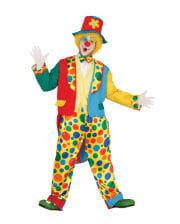 Clown Kostüm mit Frack & Hut