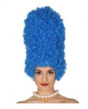 Comic Perücke Marge blau