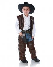 Cowboy Chaps & Fringes Vest Child Costume