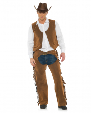 Cowboy Costume With Vest & Chaps