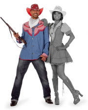 Cowboy Herrenhemd Jeansblau