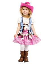Cowgirl Kinderkostüm mit Cowboyhut