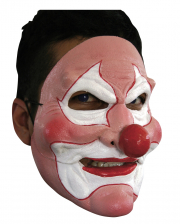 Crazy Clown Halbmaske