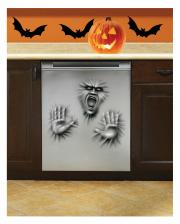 Creepy Halloween Dishwasher Foil