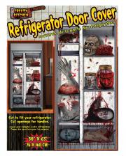 Creepy Halloween Kühlschrank Folie