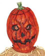 Creepy Pumpkin Latex Maske