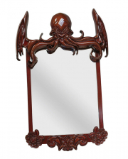 Cthulhu Lovercraft Mirror 80 Cm With Wooden Frame