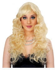 Ladies Long-haired Wig Dark-blond