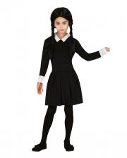 Dark Girl Kinder Kostüm Kleid Schwarz